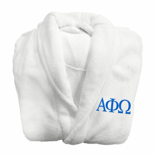 Alpha Phi Omega Fraternity Lettered Bathrobe