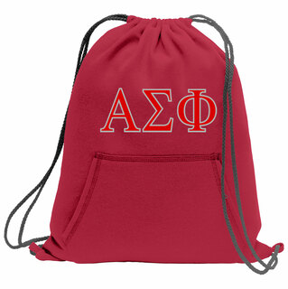 Alpha Sigma Phi Fleece Sweatshirt Cinch Pack