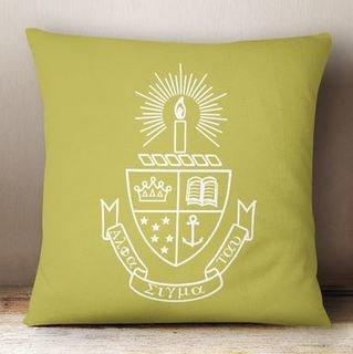 Alpha Sigma Tau Crest - Shield Colored Pillow