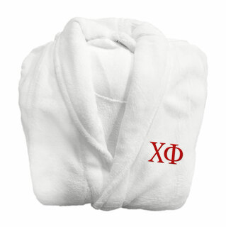 Chi Phi Fraternity Lettered Bathrobe