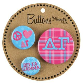 Delta Gamma Button 3 pack