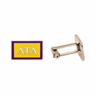 Delta Tau Delta Rectangle Cuff Links