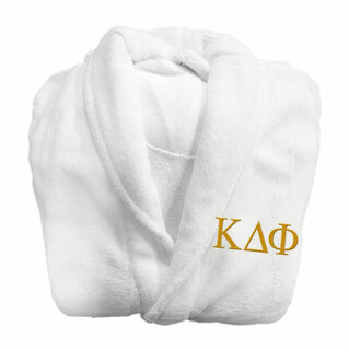 Kappa Delta Phi Fraternity Lettered Bathrobe