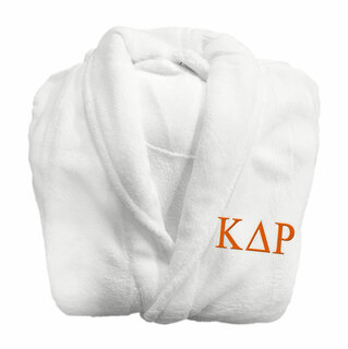 Kappa Delta Rho Fraternity Lettered Bathrobe