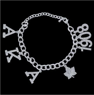 AKA Austrian Crystal Charm Bracelet In Silver