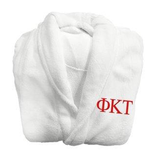 Phi Kappa Tau Fraternity Lettered Bathrobe