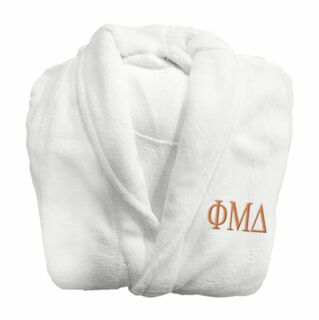 Phi Mu Delta Lettered Bathrobe