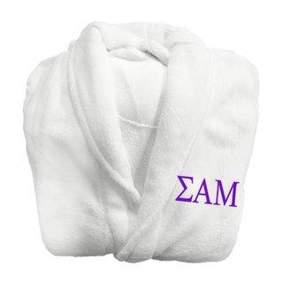 Sigma Alpha Mu Fraternity Lettered Bathrobe