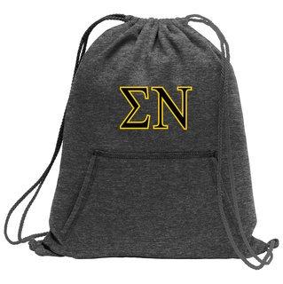Sigma Nu Fleece Sweatshirt Cinch Pack