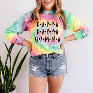 Comfort Colors Sorority Starry Night Tie Dye Long Sleeve Shirt