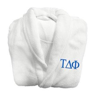 Tau Delta Phi Fraternity Lettered Bathrobe