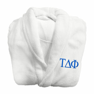 Tau Delta Phi Fraternity Lettered Bathrobe