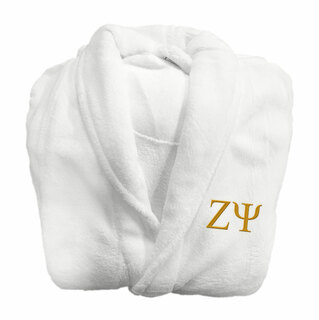 Zeta Psi Fraternity Lettered Bathrobe