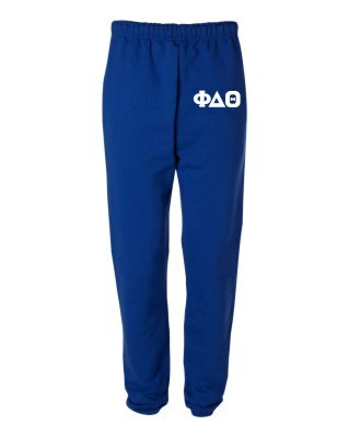 Phi Delta Theta Greek Lettered Thigh Sweatpants