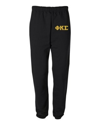 Phi Kappa Sigma Greek Lettered Thigh Sweatpants