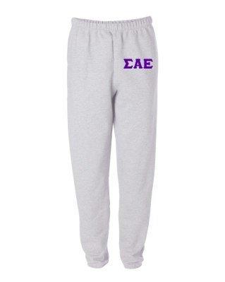 Sigma Alpha Epsilon Greek Lettered Thigh Sweatpants