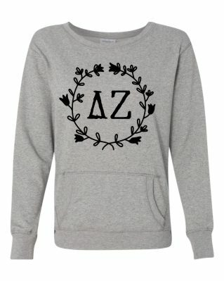 Sorority Glitter French Terry Crew