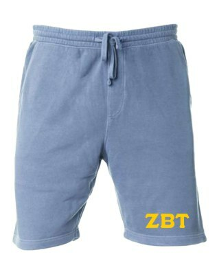Zeta Beta Tau Pigment-Dyed Fleece Shorts