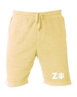 Zeta Psi Pigment-Dyed Fleece Shorts