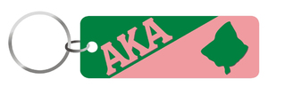 Alpha Kappa Alpha Split Symbol Keychain
