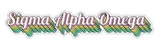 Sigma Alpha Omega Step Decal Sticker