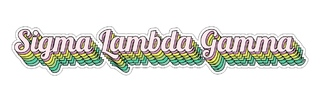 Sigma Lambda Gamma Step Decal Sticker