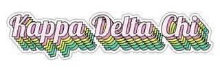 Kappa Delta Chi Step Decal Sticker