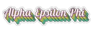 Alpha Epsilon Phi Step Decal Sticker