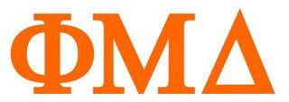 Phi Mu Delta Greek Letter Window Sticker Decal