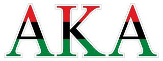 Alpha Kappa Alpha African American Flag Greek Letter Sticker