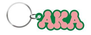 Alpha Kappa Alpha Bubble Keychain