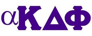 alpha Kappa Delta Phi Big Greek Letter Window Sticker Decal