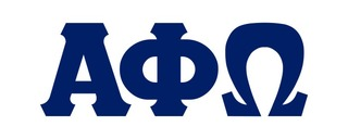 Alpha Phi Omega Big Greek Letter Window Sticker Decal
