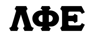Lambda Phi Epsilon Big Greek Letter Window Sticker Decal