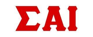 Sigma Alpha Iota Big Greek Letter Window Sticker Decal