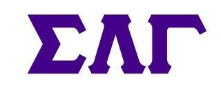 Sigma Lambda Gamma Big Greek Letter Window Sticker Decal