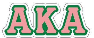 Alpha Kappa Alpha Reflective Sticker, Letters