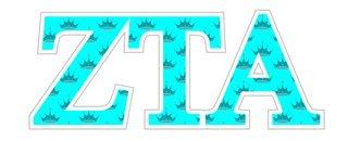 """Zeta Tau Alpha Mascot Greek Letter Sticker - 2.5"""" Tall"""