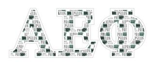 "Alpha Epsilon Phi Mascot Greek Letter Sticker - 2.5"" Tall"