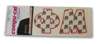 Sorority Pajama Letter Stickers