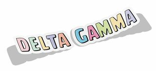 Sorority Cartoon Decal Sticker