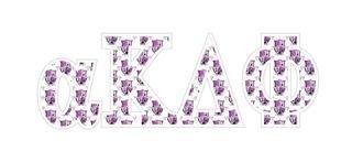 """alpha Kappa Delta Phi Mascot Greek Letter Sticker - 2.5"""" Tall"""