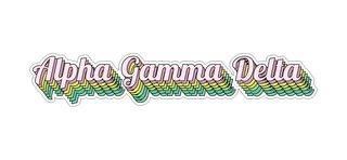 Alpha Gamma Delta Step Decal Sticker