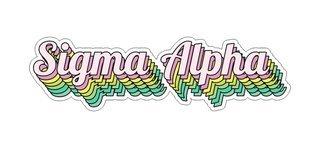 Sigma Alpha Step Decal Sticker
