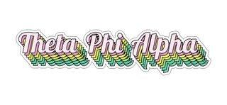 Theta Phi Alpha Step Decal Sticker