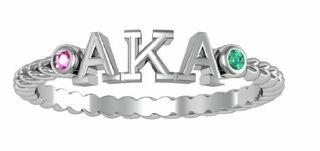 Alpha Kappa Alpha Jewel Letter Ring