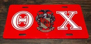 Super Savings - Theta Chi License Clover - RED