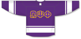 DISCOUNT-Omega Psi Phi Breakaway Lettered Hockey Jersey