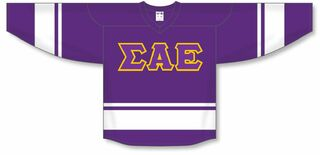 DISCOUNT-Sigma Alpha Epsilon Breakaway Lettered Hockey Jersey