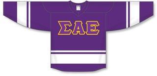 DISCOUNT-Sigma Alpha Epsilon Breakaway Lettered Hockey Jersey